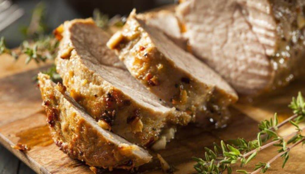 32918331 - homemade hot pork tenderloin with herbs and spices
