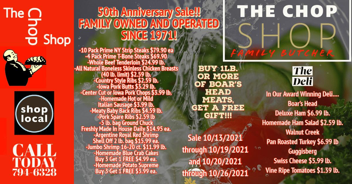 50th Anniversary sale final 10 05 2021